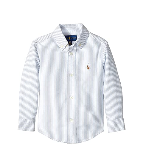 4842e6a45c1d4 Polo Ralph Lauren Kids Striped Cotton Oxford Shirt (Toddler) at ...