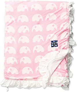 Kickee Pants Baby Girls' Essentials Print Ruffle Stroller Blanket
