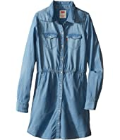 Levi's® Kids - Long Sleeve Woven Dress w/ Roll Tab (Big Kids)
