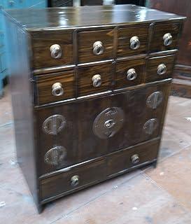 Antique armoire à pharmacie Armoire Armoire de bureau Pharmacie Armoire Commode Commode Armoire Buffet avec 10tiroirs bre...