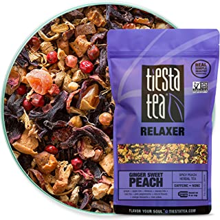 Tiesta Tea - Ginger Sweet Peach, Loose Leaf Spicy Peach Herbal Tea, Non-Caffeinated, Hot & Iced Tea, 16 oz Bulk Bag - 200 ...