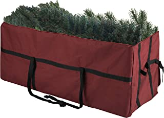 Elf Stor 83-DT5055 Heavy Duty Canvas Christmas Storage Bag Large for 7.5 Foot Tree, Red