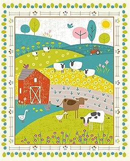 Studio E Fabrics Wildflower Farm Novelty 36'' Panel Fabric, Multicolor
