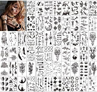 Qpout Temporäre Tattoos für Erwachsene Frauen Männer Kind