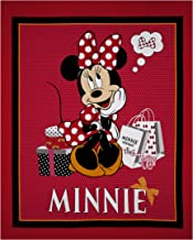 Springs Creative Products Disney Traditional Minnie Panel Red Fabric