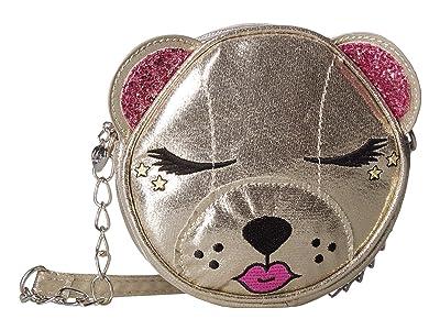 OMG! Accessories Metallic Bear Crossbody (Gold) Cross Body Handbags