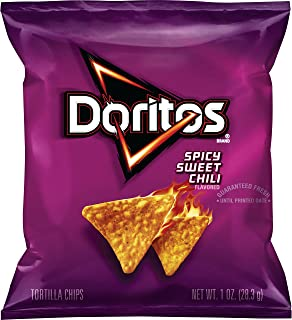 Doritos Spicy Sweet Chili Flavored Tortilla Chips, 1 Ounce, 40 Count