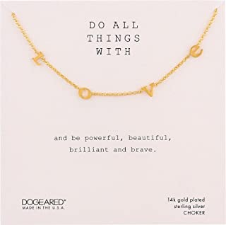 Women's Do All Things with Love Love Letter Choker Necklace