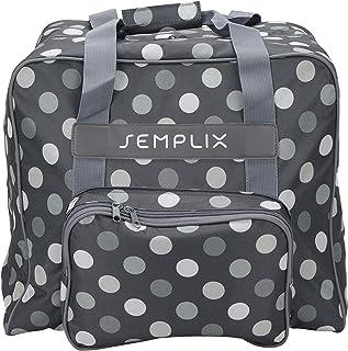 SEMPLIX Overlocktasche/Coverlocktasche Polka Dots, Groß, Stabil, für..