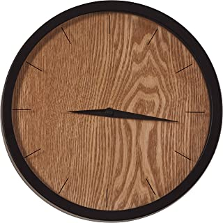 Rivet Modern Minamalist Wood-Face Clock, 12
