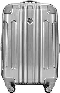 "Travelers Club 20"" or 3 Piece Polaris Metallic Spinner Luggage Set, Silver, Carry-On"