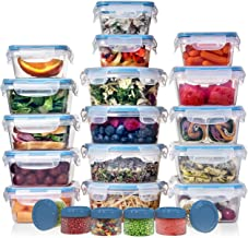 HUGE SET (32 Pack) Food Storage Containers with Lids - Plastic Food Containers with Lids - Airtight Leak Proof, Easy Snap ...