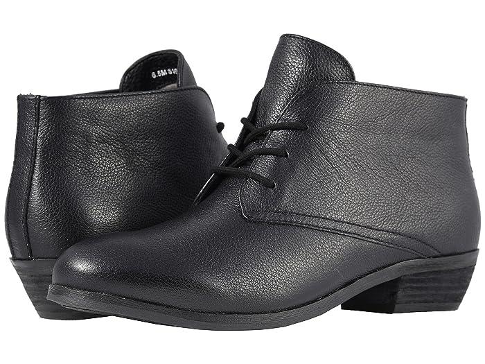 SoftWalk Ramsey (Black Soft Mini Tumbled Leather) Women's Shoes