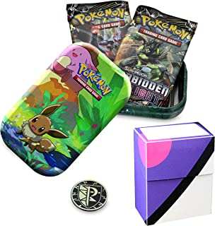 Totem World Eevee Kanto Friends Mini Tin with Master Ball Deck Box Bundle - Perfect for Pokemon Cards