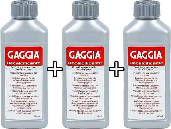 Gaggia Decalcifier Descaler Solution 250ml 3 Bottles