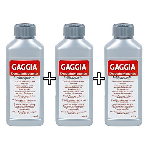 Gaggia Decalcifier Descaler Solution 250ml (3 Bottles)