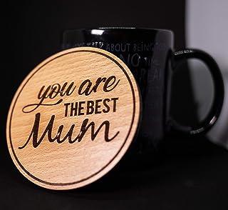 Sottobicchiere in legno idea regalo per la mamma