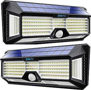 Solar Lights Outdoor Super-Bright 298 LEDs 2500lm - LED Solar Motion Sensor Lights Outdoor - for Wall, Post, Pathway Garde...
