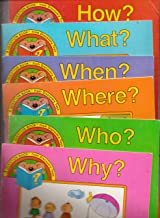 SET of 6 Discovery Toys Question Books! Included are: How?, Why?, Who?, What?, When? & Where? (Discovery Toys Question Book)