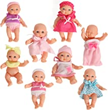 Mommy & Me Doll Collection Set of 8 Assorted Mini Dolls 5 Inches Tall
