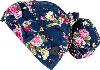 قبعة عمل مع زر وشريط راس من فيرست لايف سيفر، قبعات قابلة للتعديل للنساء، مناسبة للشعر الطويل