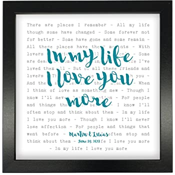 Ben Folds /'The Luckiest/' Personalised Framed Song Lyrics Heart Print