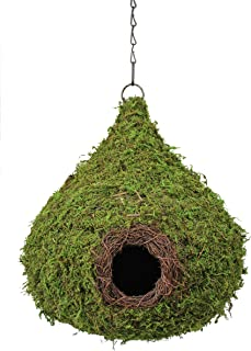 SuperMoss (56010) Raindrop Birdhouse with Chain, 10 by 13-Inch, Fresh Green