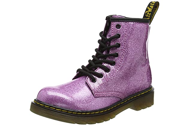 a77f219cc288 Dr. Martens Kid's Collection Womens 1460 Patent Glitter Junior Delaney Boot  (Little Kid/Big Kid)