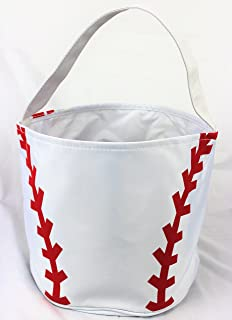 Baseball Easter Halloween Candy Basket Bucket Snack Bags Children Kids Practice Tote