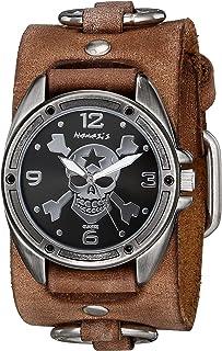 ネメシスMen 's 906bfrb-kk Cross Boneシリーズアナログディスプレイ日本クォーツブラウン腕時計