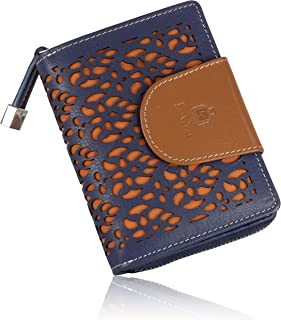Le Craf Blueberry Genuine Leather Wallet Purse for Women and Girls