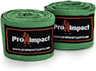 """Pro Impact Mexican Style Boxing Handwraps 180"""" with Closure - Elastic Hand & Wrist Support for Muay Thai Kickboxing Traini..."""