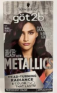Got2b Metallics Permanent Hair Color, M49 Smoky Violet (Pack of 2)