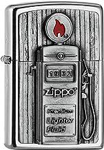 Zippo PL 207 Gas Pomp Embleem 3D Aansteker, Messing, Design, 5,83,81,2