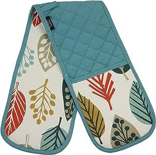 McAlister Magda Scandinavian Heat Resistant Oven Mitts - Double Glove | Terracotta Orange | Modern Minimalist Designer Decor Accent