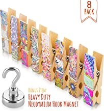 8pcs Unique Fridge Magnet Clips + Strong Magnetic Hook - Display Photos & Memos On a Refrigerator, Locker, Whiteboard, Office, Classroom In a Cute & Fun Way (classic)