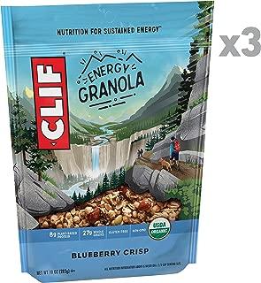 Clif Energy Granola - Organic Nutrition - Blueberry Crisp - (10 Ounce Bag, 3 Count)