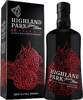 Highland Park 16 Jahre Twisted Tattoo Single Malt Scotch Whisky 1 x 0.7 l – Limitierter Premium Whisky, mit leichter Torfnote