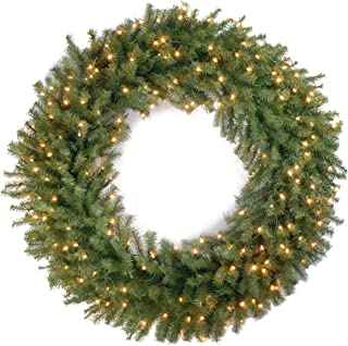 cordless lighted wreaths for outdoors