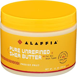 Alaffia Pure Unrefined Shea Butter, Passion Fruit. Deeply Hydrates and Moisturizes Skin. Suitable for All Skin Types. Fair...