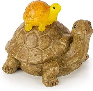 VP Home Mom and Baby Turtle Solar Garden Light