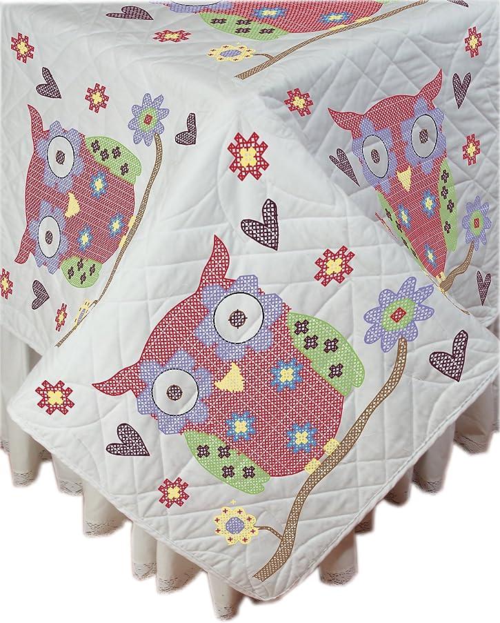 Fairway 95114 Owl Stamped Quilt Blocks (6 Pack), 18