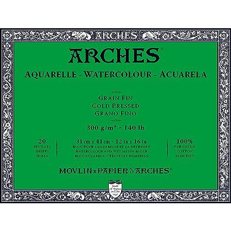 """Arches Watercolor Paper Block, Cold Press, 12"""" x 16"""", 140 pound"""