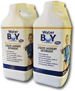Water Boy Liquid Laundry Detergent- Hard Water Concentrate, Fresh Fragrance- 2 Pack (