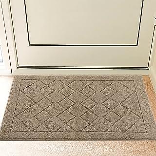 Indoor Doormat Front Door Mat Non Slip Rubber Backing Super Absorbent Mud and Snow Magic Inside Dirts Trapper Mats Entranc...