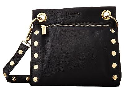 Hammitt Tony Med (Black/Gold) Handbags