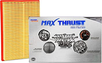Spearhead MAX THRUST Performance Engine Air Filter For Low & High Mileage Vehicles - Increases Power & Improves Acceleration (MT-677)