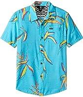 Volcom Kids - Motel Floral Short Sleeve Shirt (Big Kids)
