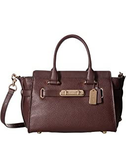 코치 스웨거 캐리올 COACH  Swagger Carryall 27 In Pebble Leather,LI/Oxblood