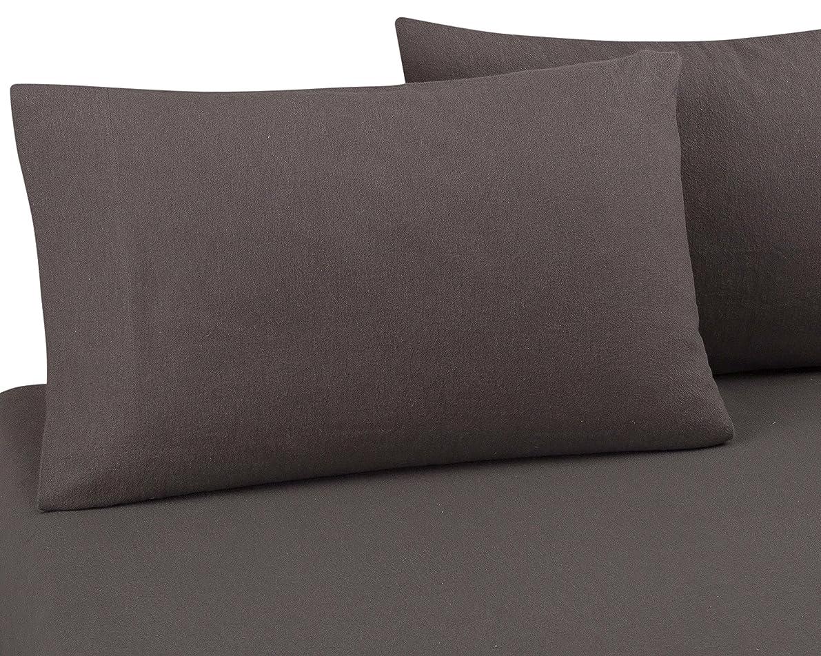 DELANNA Flannel Pillowcases 100% Cotton Standard Size 20